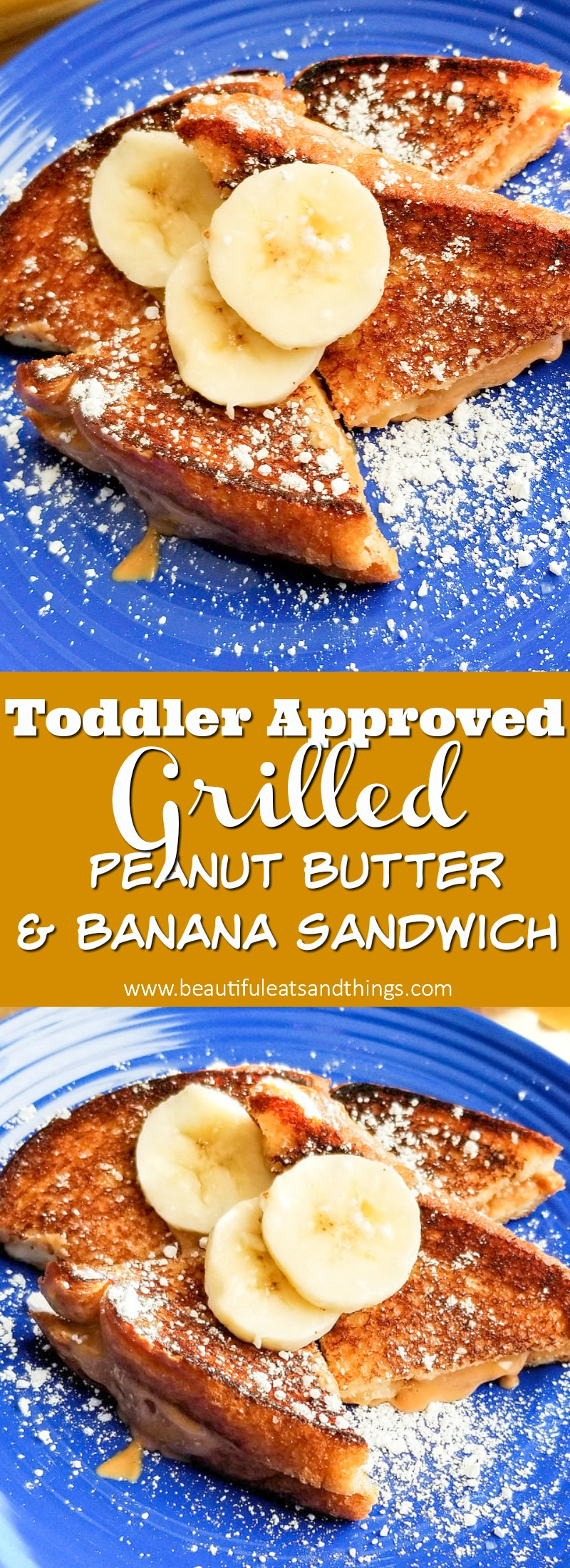 Grilled Peanut Butter & Banana Sandwich