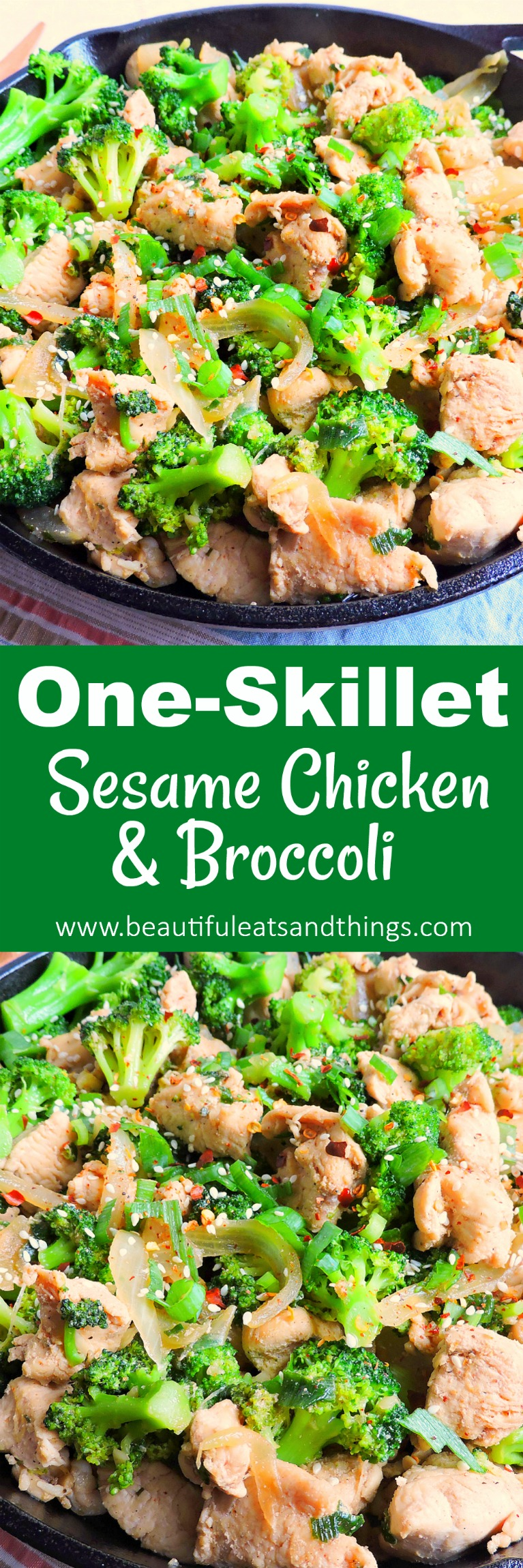 One-Skillet Sesame Chicken & Broccoli