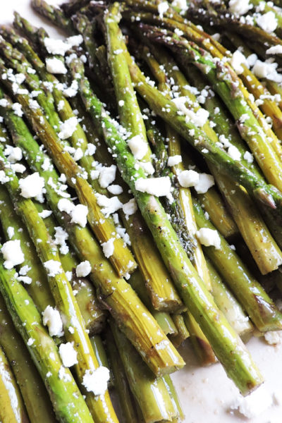 roasted balsamic asparagus feta