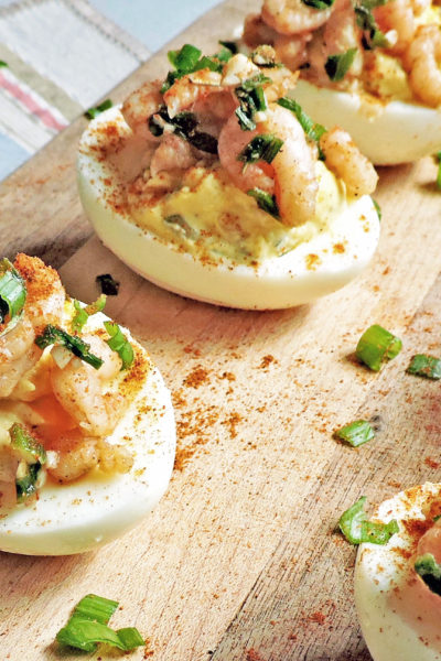 Garlic Shrimp Stuffed Deviled Eggs