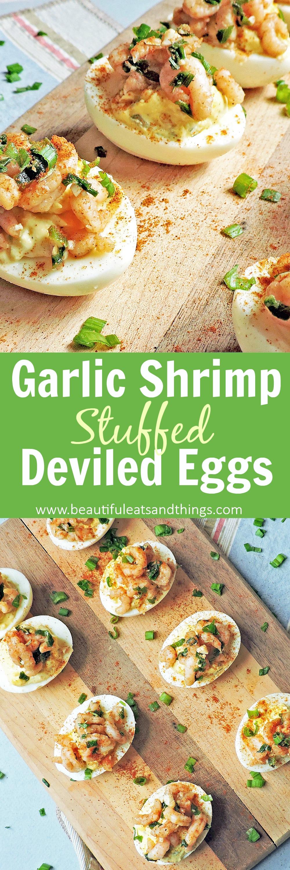 garlic shrimp stuffed deviled eggs