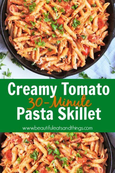 Creamy Tomato Pasta Skillet