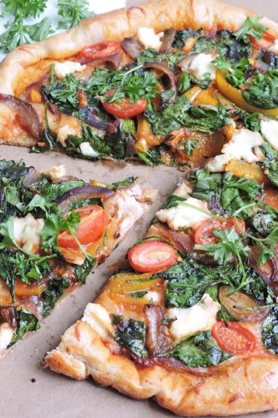 Gourmet Veggie and Ricotta Cheese Pizza