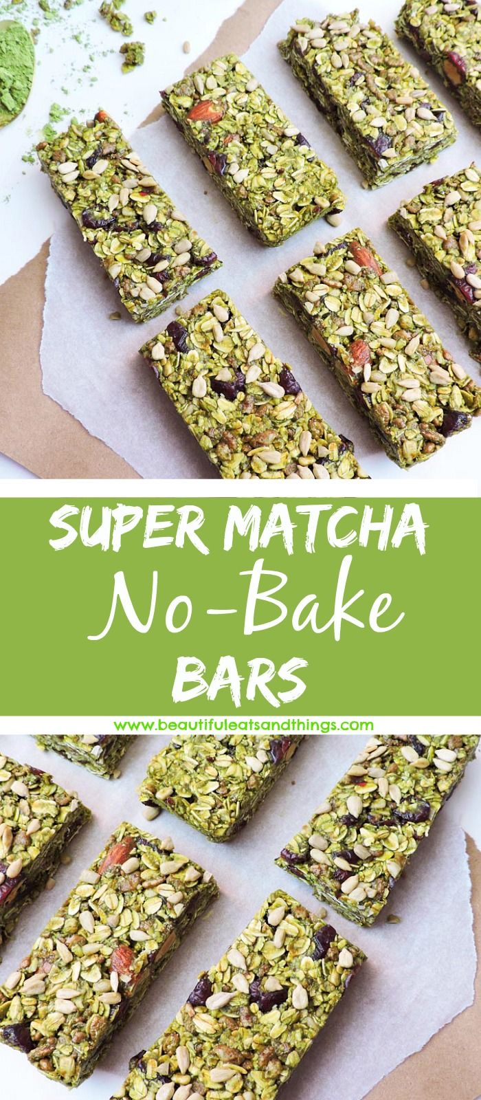 No Bake Super Matcha Bars