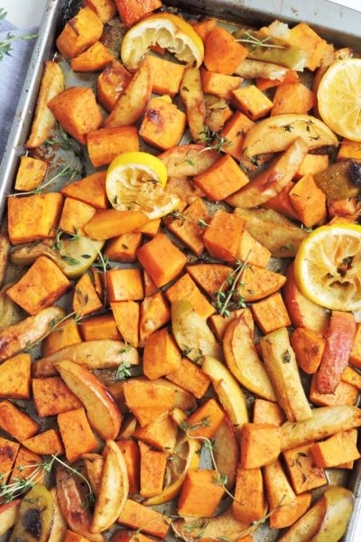 Oven Roasted Sweet Potatoes & Apples