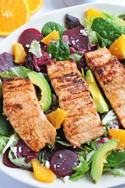 Citrus Salmon and Beet Salad