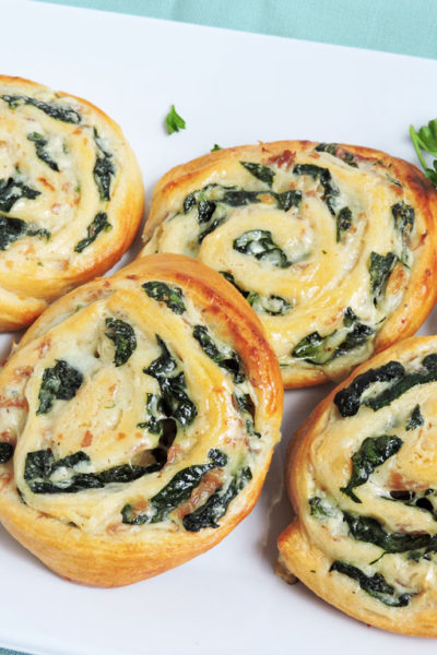 Spinach and Prosciutto Pinwheels