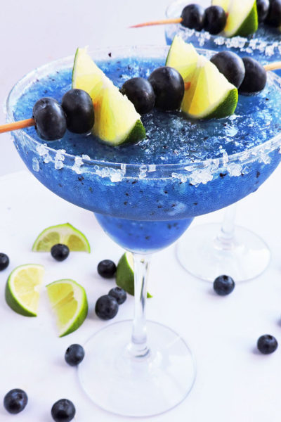 Fresh Frozen Blueberry Lime Margarita