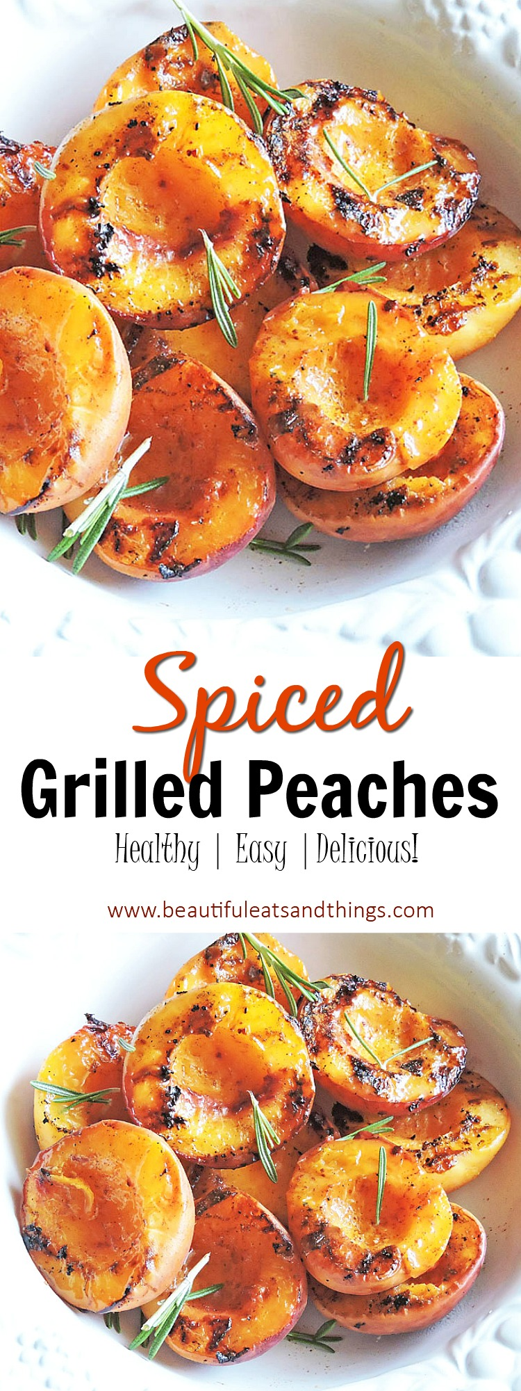 Spiced Grilled Peaches
