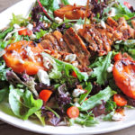 Grilled Peach Chicken & Goat Cheese Salad1