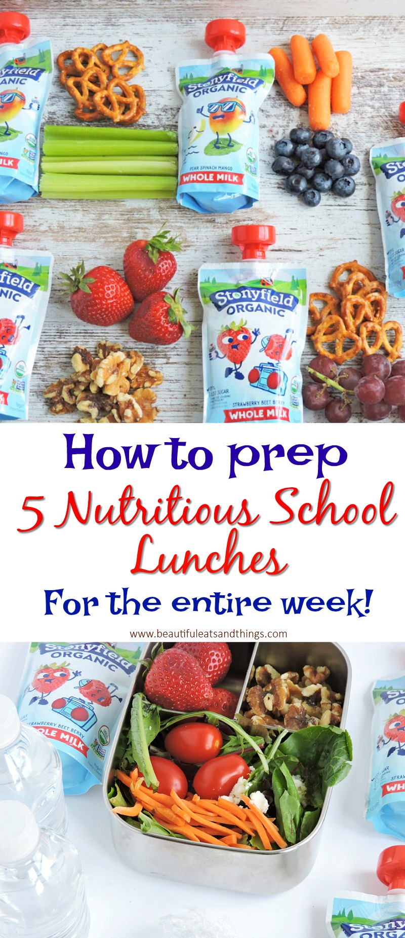 Quick and Easy School Lunch Meal Prep with Stonyfield Kids Yogurt Pouches
