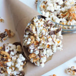 Chocolate Peanut Butter Popcorn with Sunflower Seeds