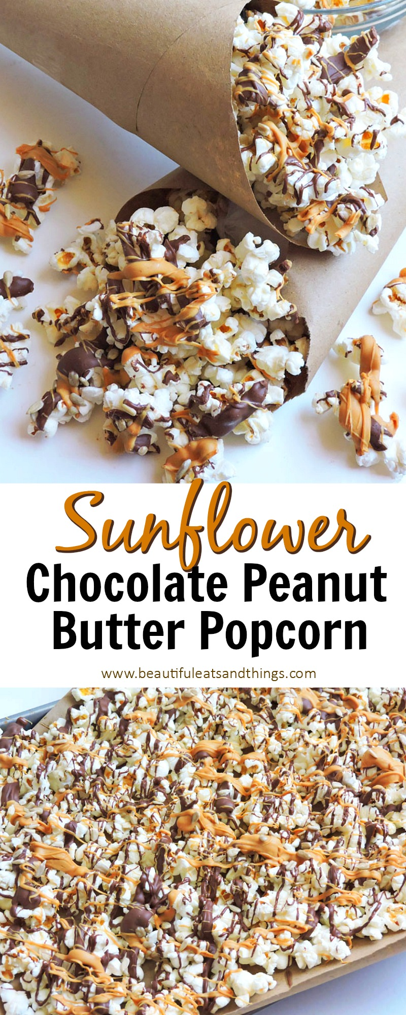Sunflower Chocolate Peanut Butter Popcorn