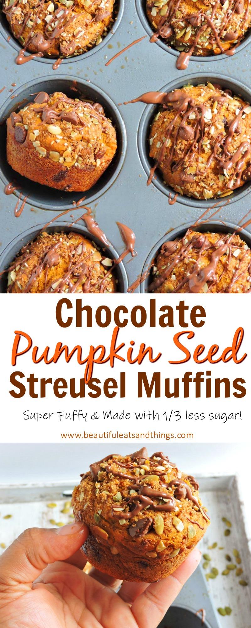 Chocolate Pumpkin Streusel Muffins