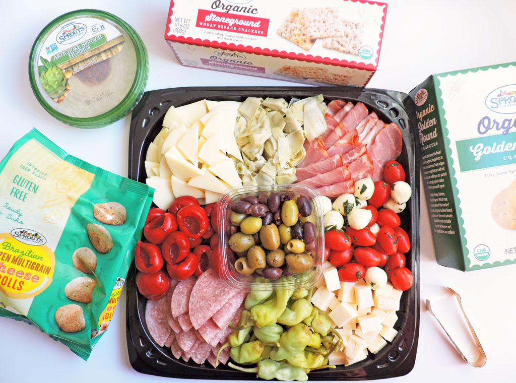 Easy holiday entertaining in 10 minutes with Sprouts Farmers Market, greek inspired antipasto tray