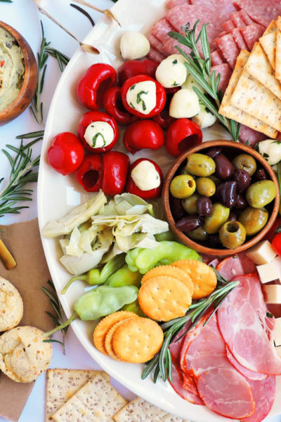 Easy Holiday Entertaining in 10 Minutes + Greek Inspired Antipasto
