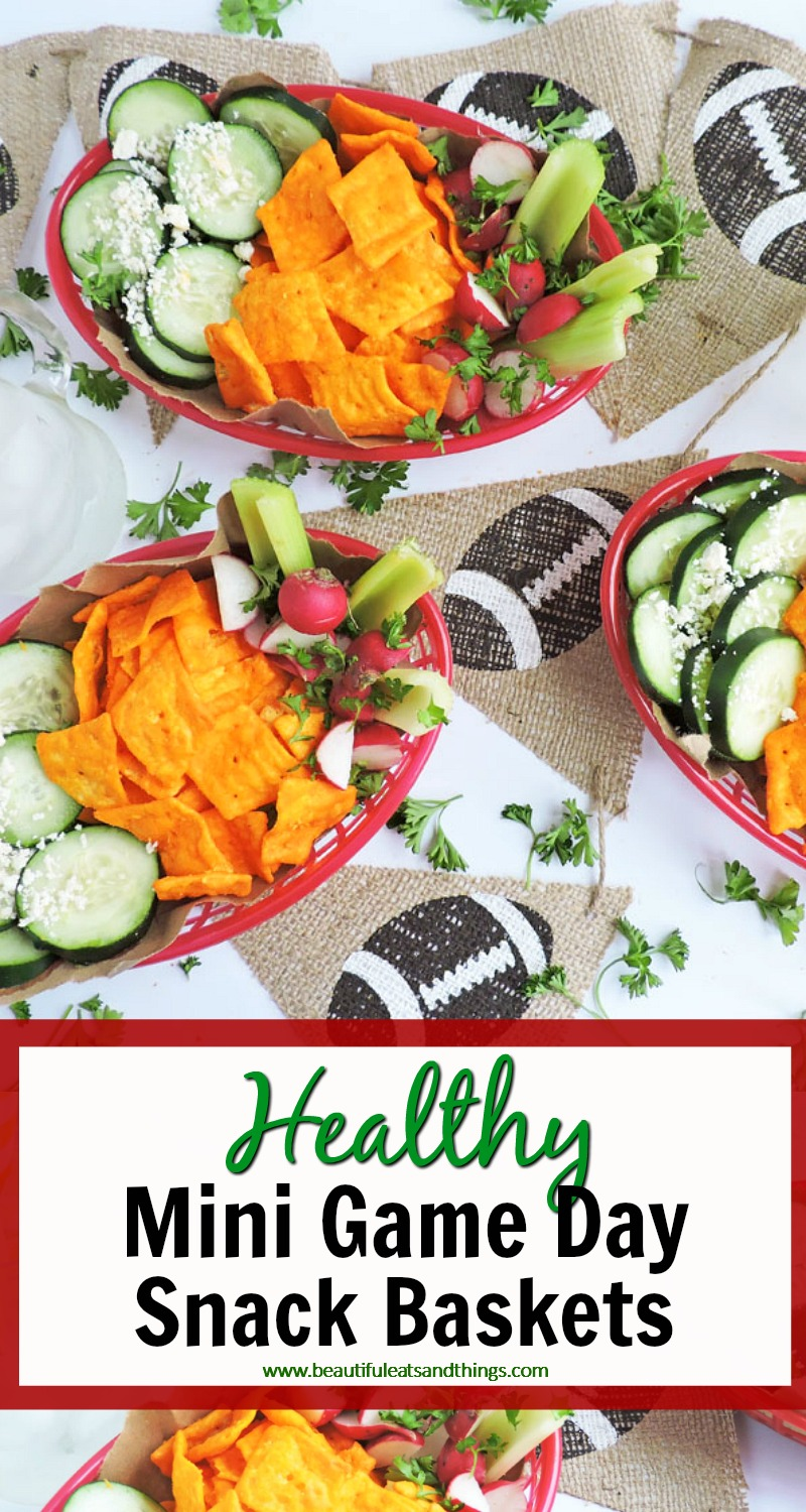 NEW-Easy Mini Game Day Snack Baskets