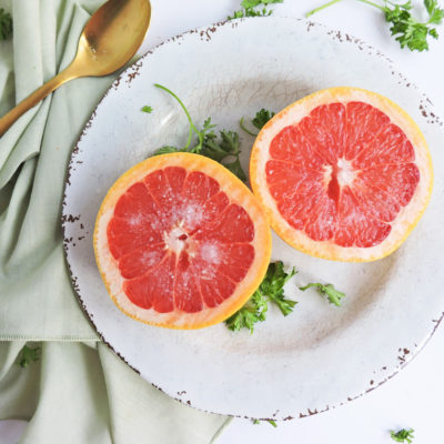 splenda naturals on a white surface with a sliced grapefruit, coffee, and sliced lemon beautifuleatsandthings.com