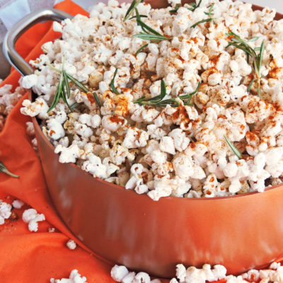 Spicy Paprika Rosemary Garlic Stovetop Popcorn