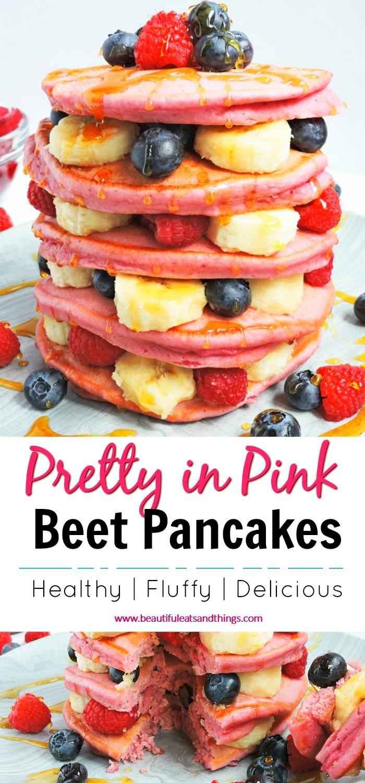 Pretty in Pink Beet Pancakes