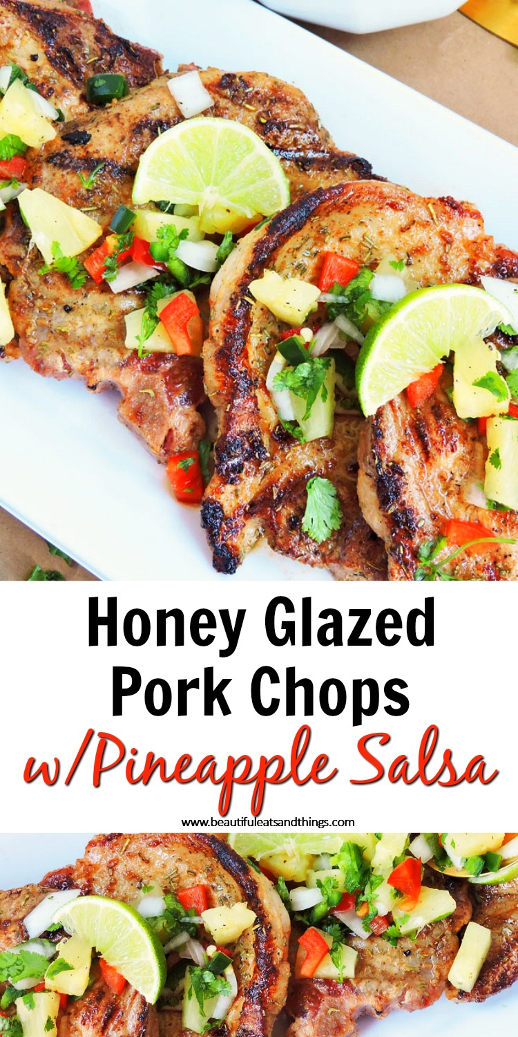 Honey Glazed Pork Chops with Pineapple Salsa