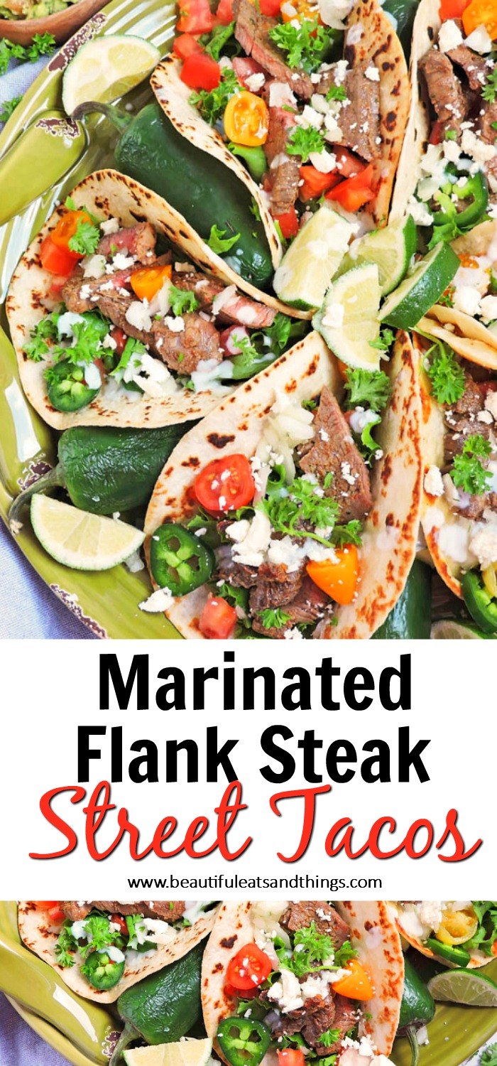 marinated steak street tacos