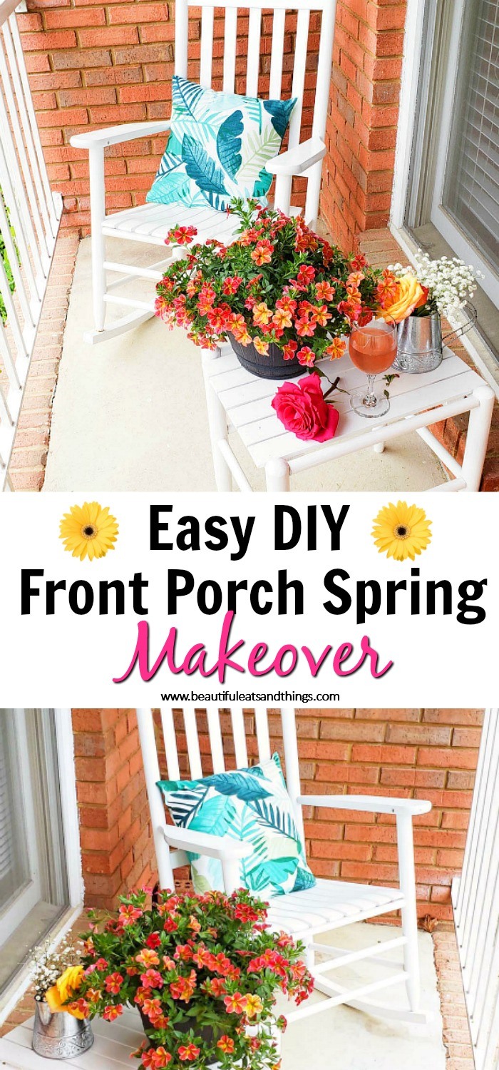 Easy Front Porch Spring Makeover