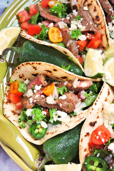 Marinated Flank Steak Street Tacos