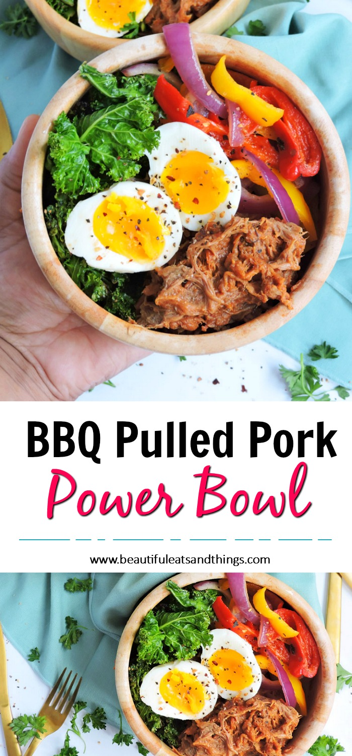 BBQ Pulled Pork Power Breakfast Bowl