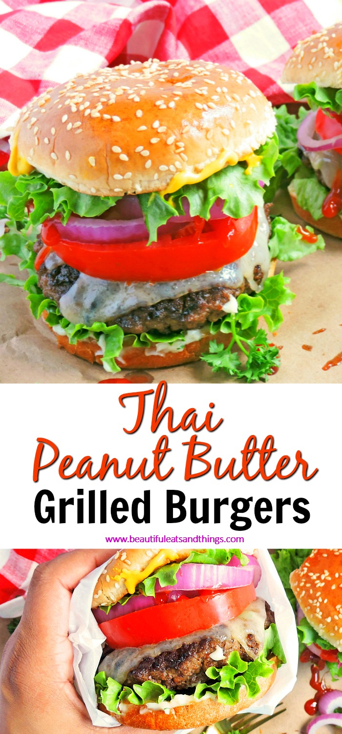 Thai Peanut Butter Grilled Burgers