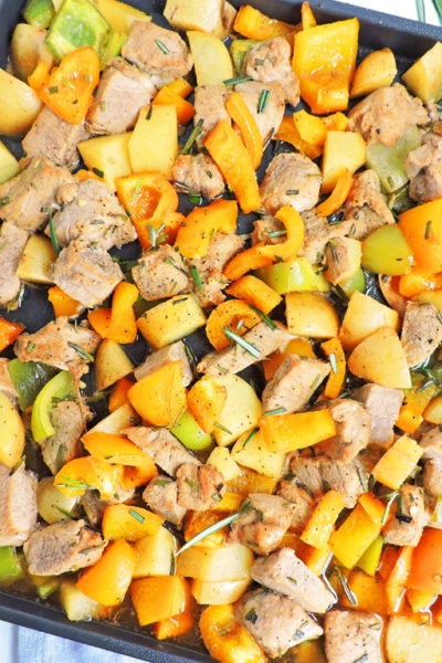 Honey Balsamic Pork & Veggie Sheet Pan Meal