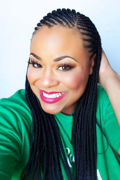 My Top 6 Products to Make Your Braids Last Longer, African American woman with cornrows braids hairstyle