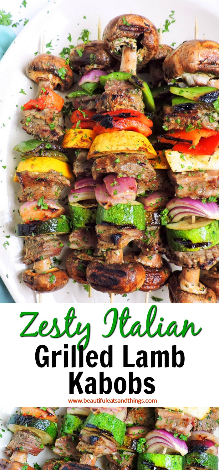 Zesty Italian Grilled Lamb Kabobs