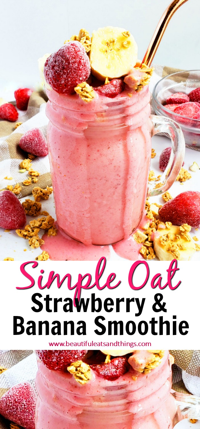 Simple Strawberry Banana Oat Smoothie