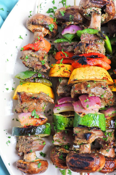 Zesty Italian Herb Grilled Lamb Kabobs