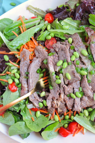 Why You Should Eat More Soy Protein + Beef Salad with Ginger Soy Dressing