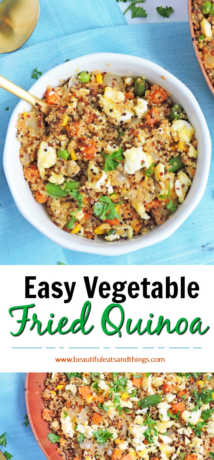 Easy Vegetable Fried Quinoa6