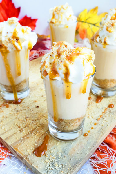 Boozy Pumpkin Pie Cheesecake Shots