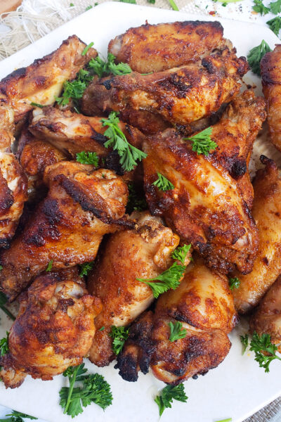 Crispy Savory Pomegranate Spicy Wings