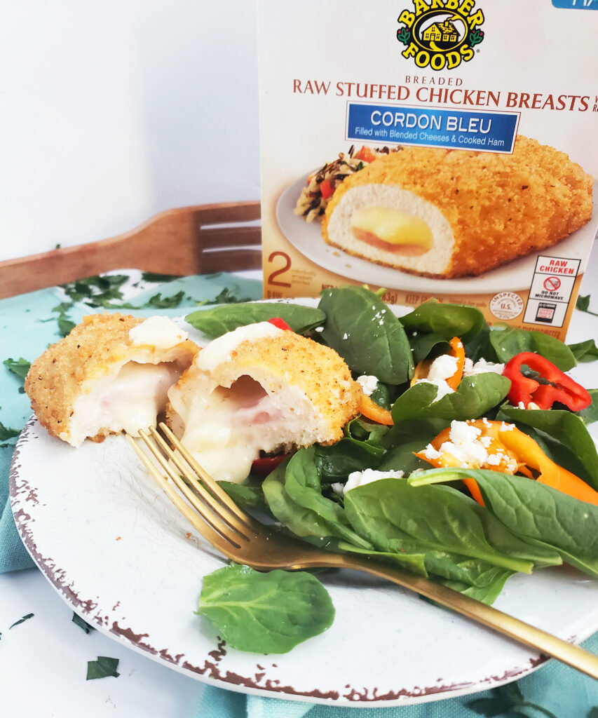 Quick & Easy Dinner Ideas During this Busy Holiday Season featuring Barber Foods Chicken Cordon Bleu