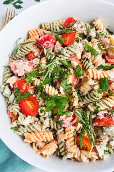 Creamy Herb Tuna Pasta Salad