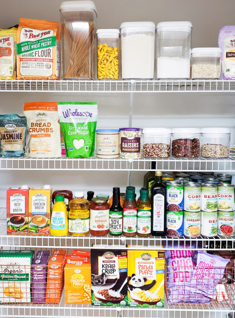 how to stock an organic pantry on a budget from Sprouts Farmers Market with Registered Dietitian, Andrea Mathis