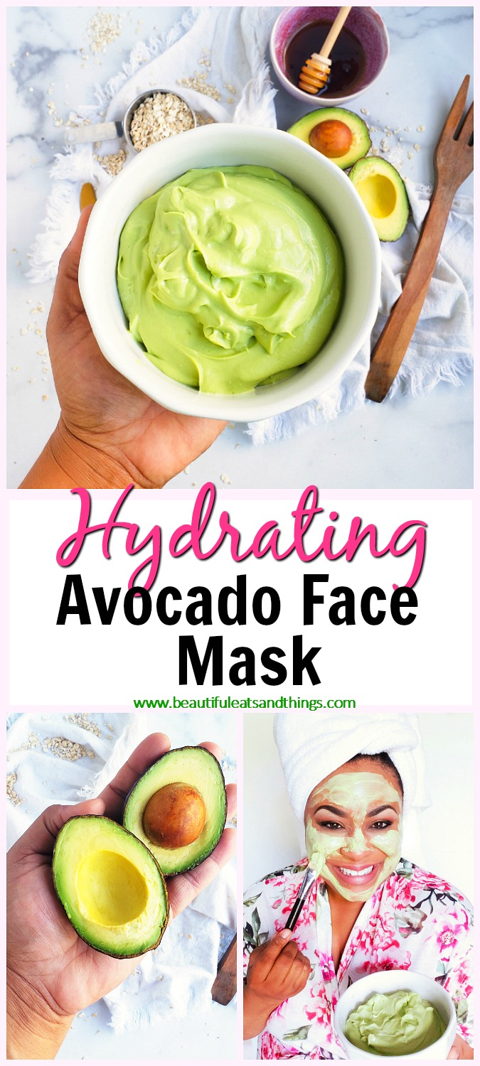 Get glowing skin with this amazing DIY Hydrating Avocado Face Mask! It's made with simple ingredients that can be found right in your kitchen. DIY Green Face Mask. #avocadomask #facemask #diyfacemask #selfcare beautifuleatsandthings.com
