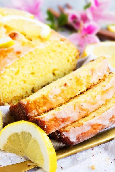 Lemon Greek Yogurt Loaf Cake