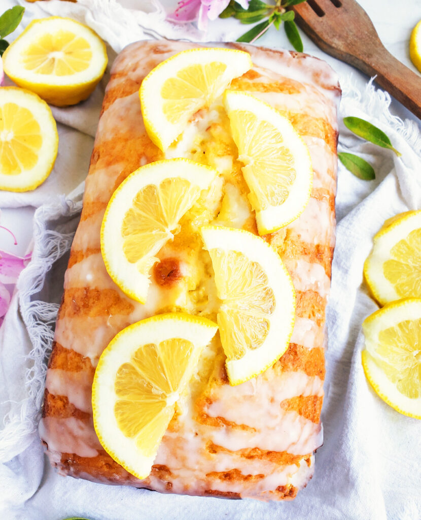 The Healthy Lemon Loaf Cake. The Best Lemon Greek Yogurt Loaf Cake. Easy, no mixer, no cake mix, and dangerously good! You're going to love this lemon pound cake recipe! #lemoncake #lemonpoundcake #poundcake #lemonloafcake #loafcake #lemonrecipes beautifuleatsandthings.com