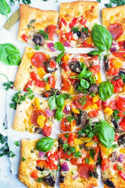 Garden Fresh Veggie Pepperoni Pizza