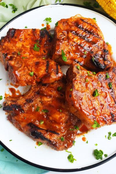 Spicy Grilled BBQ Pork Chops