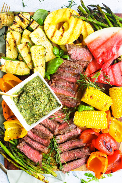 How to Build a Grilled Steak Charcuterie Board