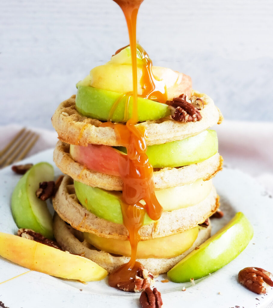 A few of my favorite fall flavors include apples, caramel, and pecans—which inspired me to create these AMAZING Pecan Caramel Apple Waffles with my homemade caramel sauce, and Eggo Waffles. Beautifuleatsandthings.com