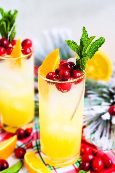 Sparkling Orange Mint Cocktail